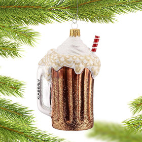 Personalized Root Beer Float Christmas Ornament
