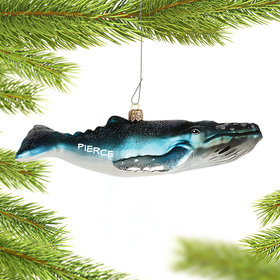 Personalized Humpback Whale Christmas Ornament