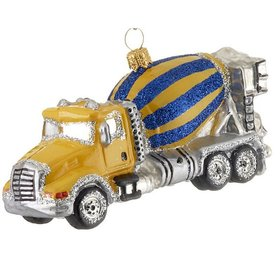 Personalized Mixer Truck Christmas Ornament