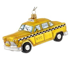 Personalized Vintage NYC Taxi Cab Christmas Ornament