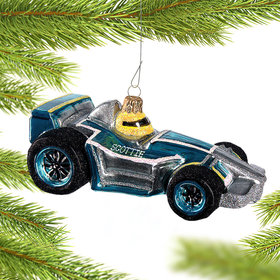 Personalized Race Car Driver Christmas Ornament