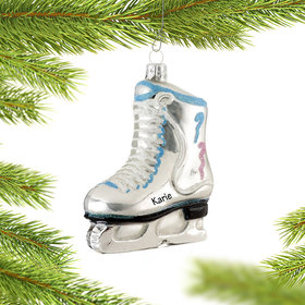 Personalized Ice Skate Christmas Ornament