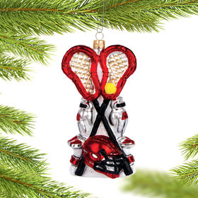 Pair of Lacrosse Sticks Christmas Ornament