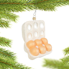 Personalized Half Dozen Egg Carton Christmas Ornament