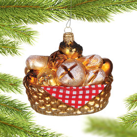 Personalized Bread Basket Christmas Ornament