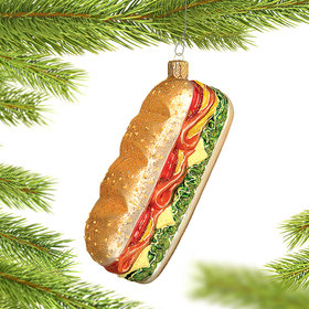 Sandwich Christmas Ornament
