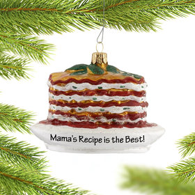 Personalized Ricotta Cheese Lasagna Christmas Ornament