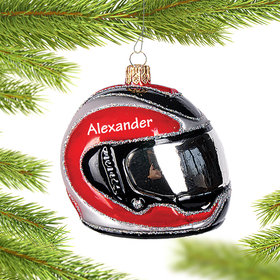 Personalized Motorbike Helmet Christmas Ornament