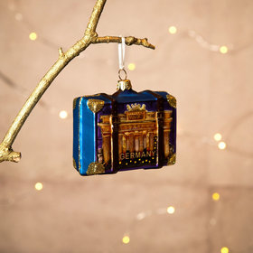 Personalized Germany Travel Suitcase Christmas Ornament