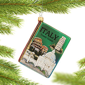 Travel Guide For Italy Christmas Ornament