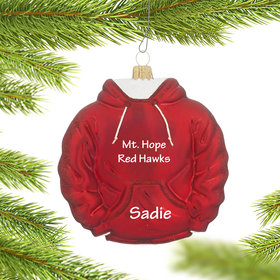 Personalized Red Hoodie Sweatshirt Christmas Ornament