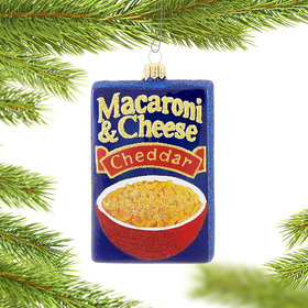 Macaroni and Cheese Box Christmas Ornament