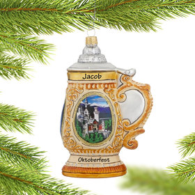 Personalized Beer Stein Christmas Ornament