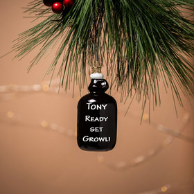 Personalized Growler Christmas Ornament
