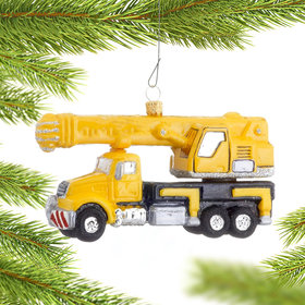 Crane Truck Christmas Ornament