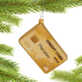 Personalized Credit Card Christmas Ornament