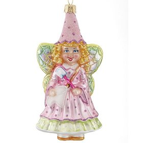 Glittered Tooth Fairy Christmas Ornament