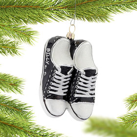 Personalized Black Sneakers Christmas Ornament