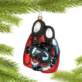 Personalized Snorkel Gear Christmas Ornament