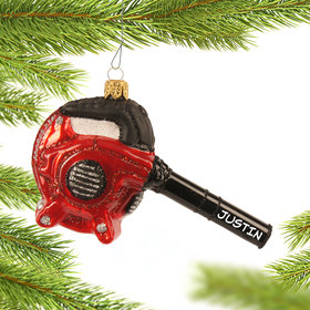 Personalized Leaf Blower Christmas Ornament