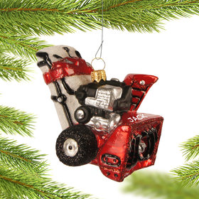 Personalized Snowblower Christmas Ornament