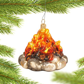 Personalized Outdoor Campfire Christmas Ornament