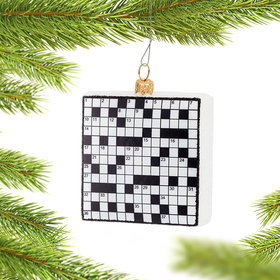 Crossword Puzzle Christmas Ornament