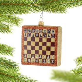 Personalized Chessboard Box Christmas Ornament
