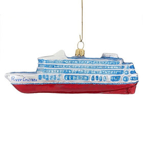 River Cruiser Christmas Ornament