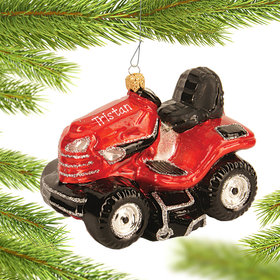 Personalized Riding Mower Christmas Ornament