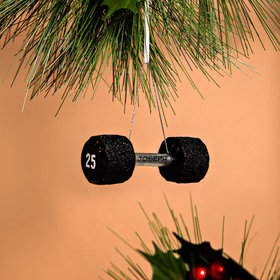 Personalized Dumbbell Christmas Ornament