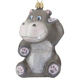 Personalized Hippo Christmas Ornament