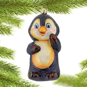 Cute Penguin Christmas Ornament