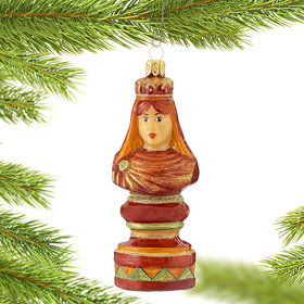 Personalized Chess Queen Christmas Ornament