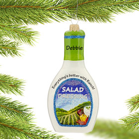 Personalized Ranch Salad Dressing Christmas Ornament