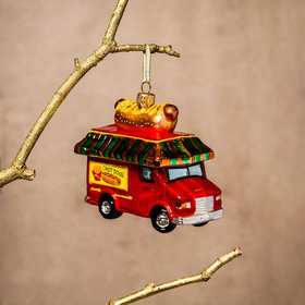 Personalized Hot Dog Truck Christmas Ornament