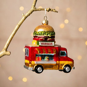 Personalized Burger Truck Christmas Ornament