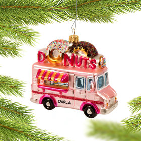Personalized Donut Truck Christmas Ornament