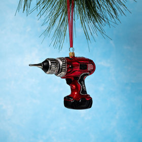 Personalized Power Drill Christmas Ornament