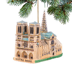 Personalized Notre Dame Cathedral Christmas Ornament