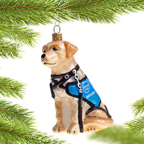 Personalized Service Dog Christmas Ornament