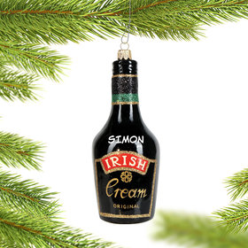 Personalized Irish Cream Christmas Ornament