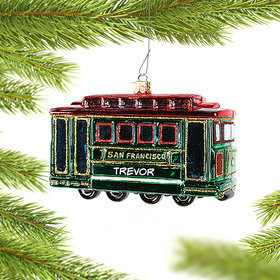 Personalized San Francisco Cable Car Christmas Ornament