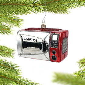 Personalized Microwave Oven Christmas Ornament