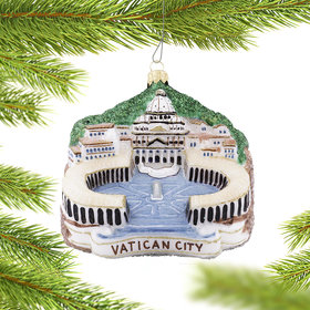 Personalized Vatican City Christmas Ornament