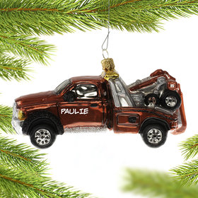 Personalized Tow Car Christmas Ornament