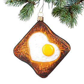Personalized Egg in Toast Christmas Ornament