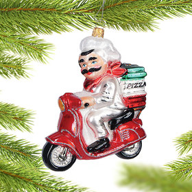 Personalized Free Pizza Delivery Christmas Ornament