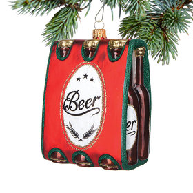Personalized 6-Pack of Beer Christmas Ornament