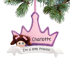 Personalized Princess Crown Girl Christmas Ornament